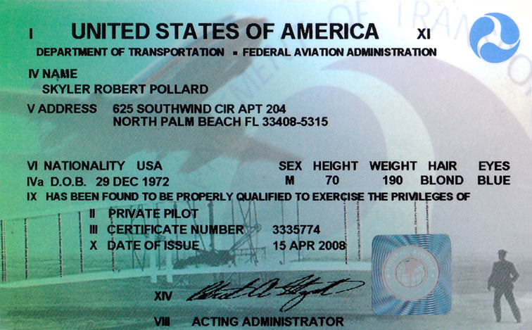Pilot licensing and certification
